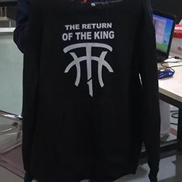 Crni džemper za štampanje uzorka štampača A2 majice WER-D4880T