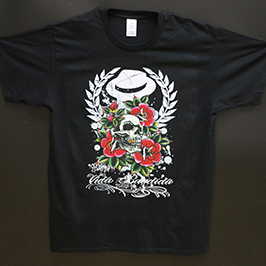 Uzorak za crno štampanje majica od strane digitalnog tekstilnog štampača A1 WER-EP6090T