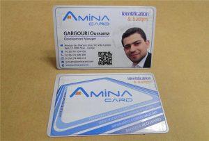 Business Name kartica prining uzorak iz desktop uv printer -A2 veličina WER-D4880UV