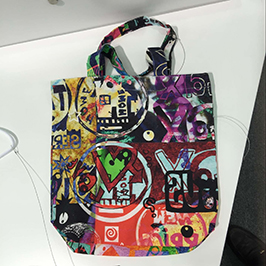 Uzorak za tisak vrećica za tkanine A1 digitalnim tekstilnim pisačem WER-EP6090T