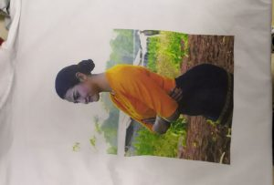 T-shirt štampa uzorak za klijenta Burme sa WER-EP6090T štampača
